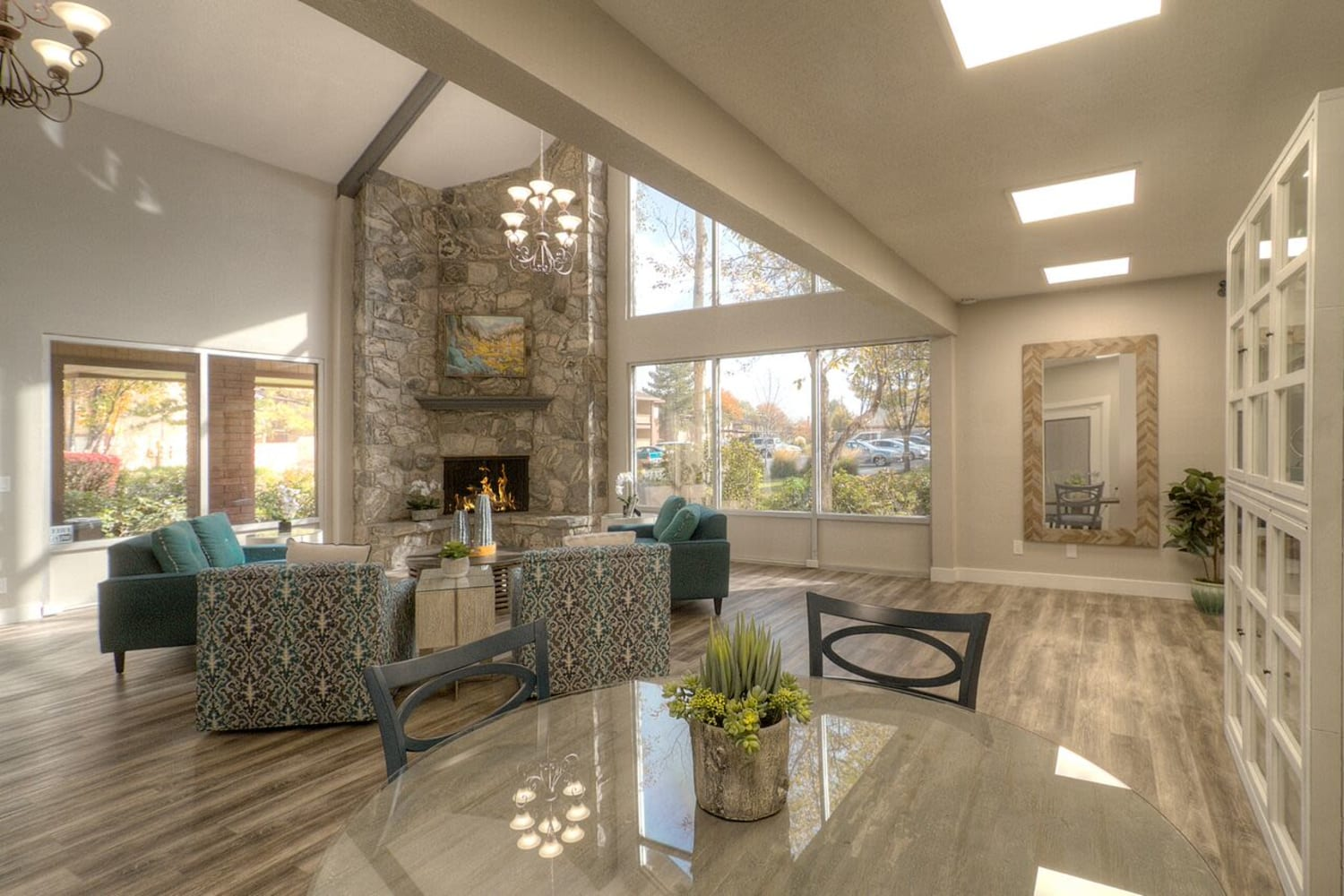 Beautiful clubhouse at Wasatch Club Apartments in Midvale, Utah