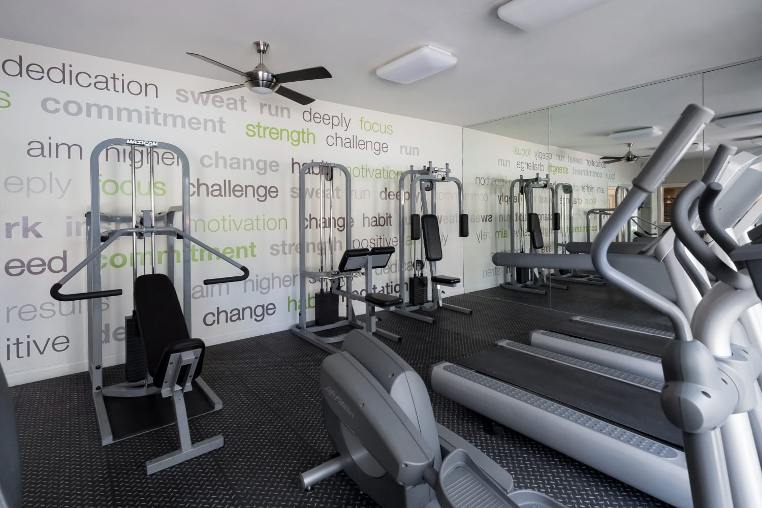 Fitness center at Rancho Destino Apartments in Las Vegas, Nevada