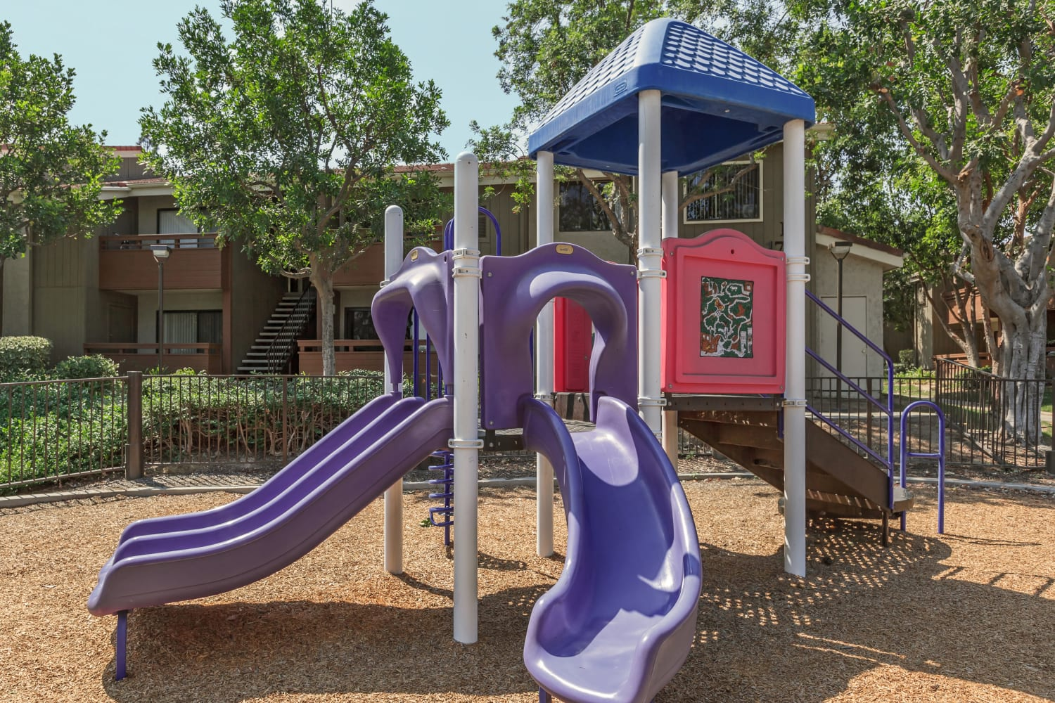 Playground at Parcwood Apartments in Corona, California