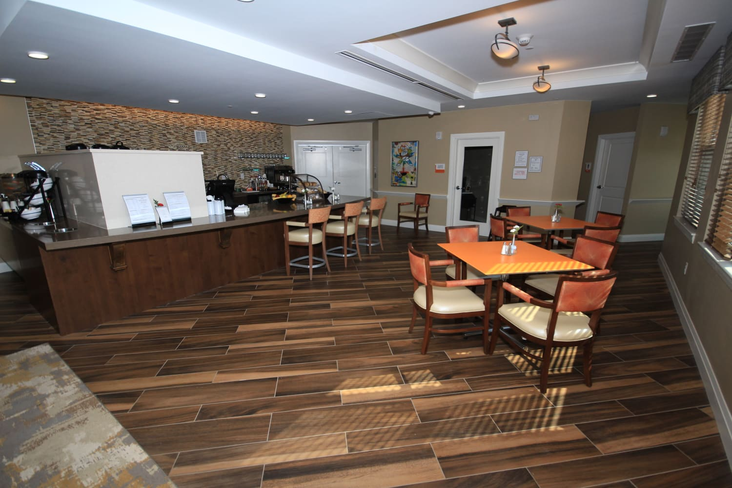 The Village Bistro is ready for residents to come enjoy a meal at Village at Belmar