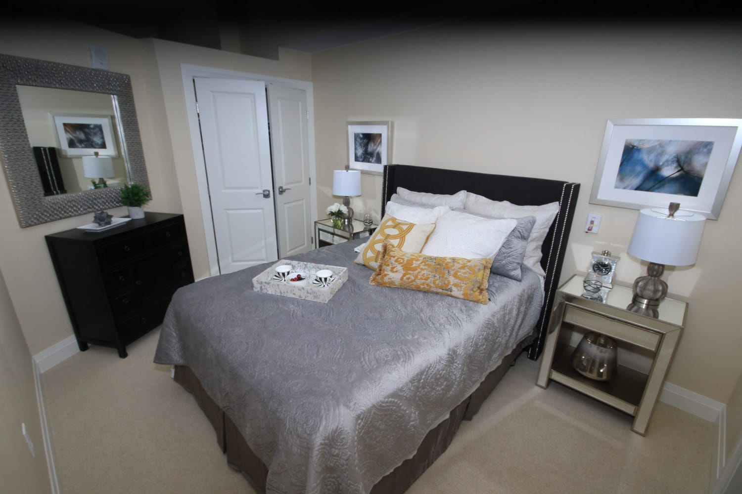 Spacious and well-appointed bedroom at Village at Belmar in Lakewood