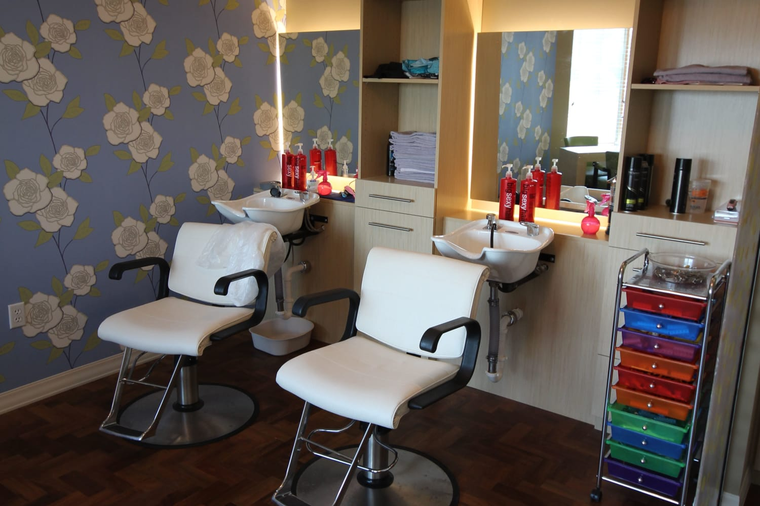 Get your hair and nails done at our on-site salon at Village at Belmar
