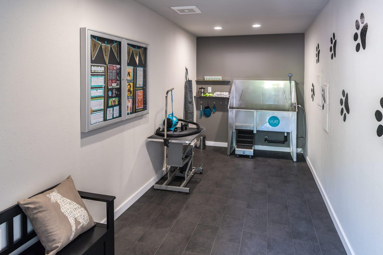 Convenient pet spa at Vue Kirkland Apartments in Kirkland, Washington