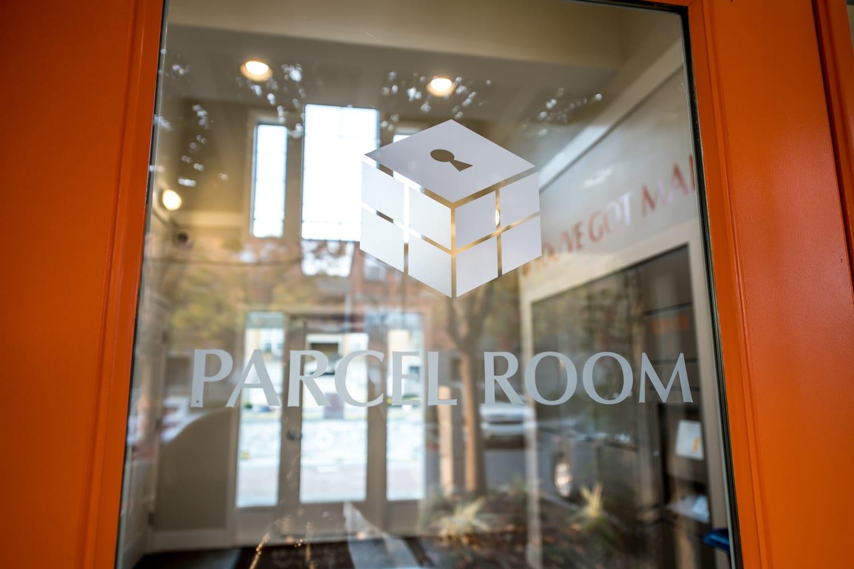 Parcel room door at Bella Vista Apartments in Santa Clara, California