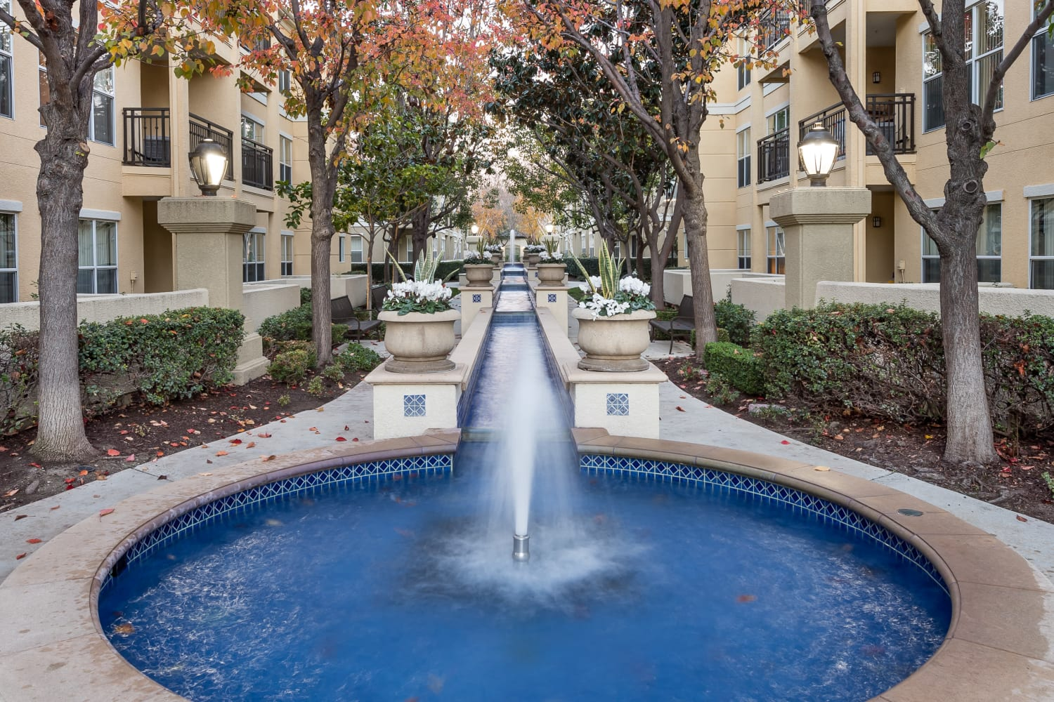 Fountain at The Carlyle in Santa Clara, California