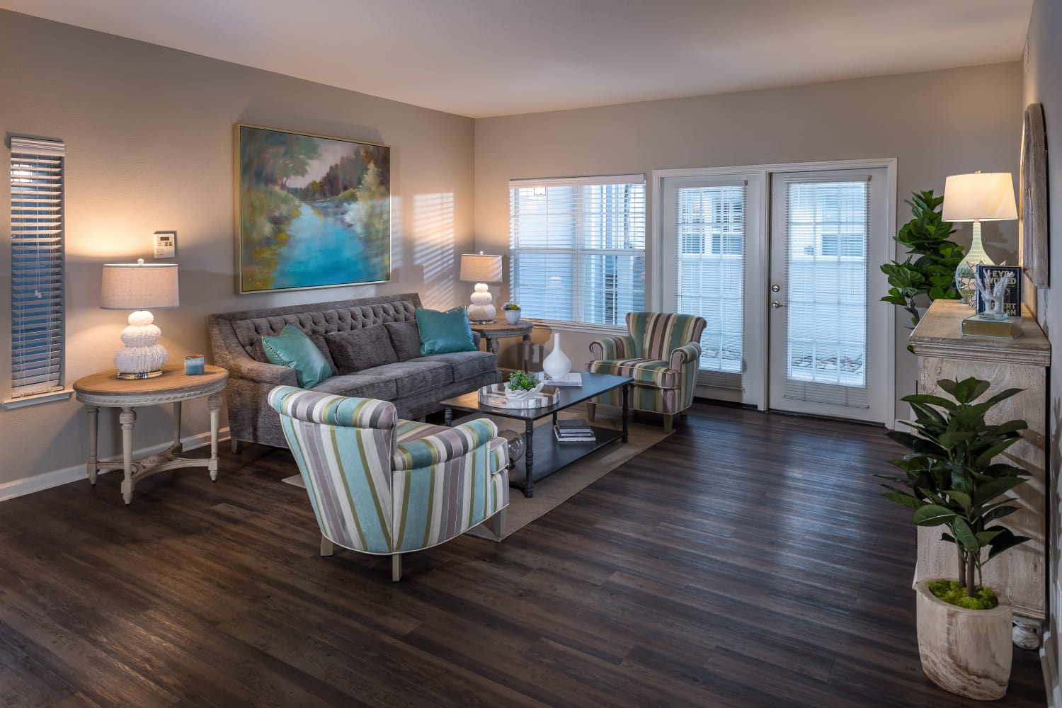 Open concept floor plans at Nantucket Apartments in Santa Clara, California