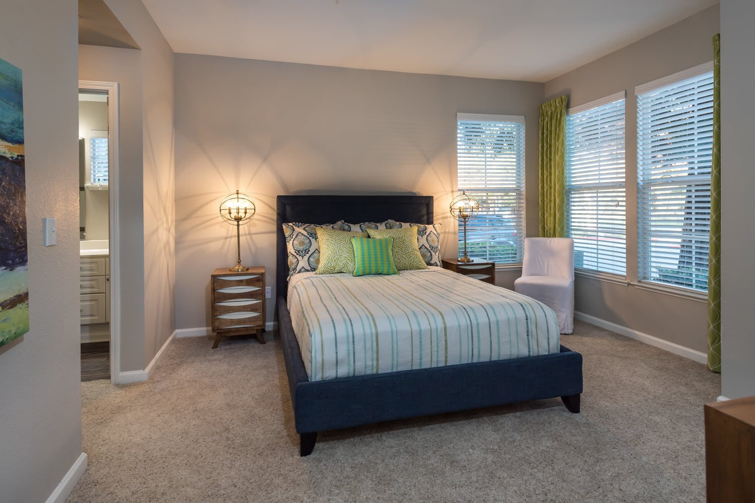 Bedroom at Nantucket Apartments in Santa Clara, California