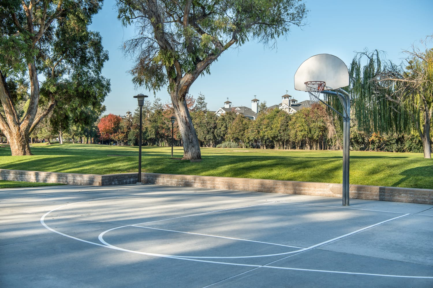 Basketball court at Nantucket Apartments in Santa Clara, California