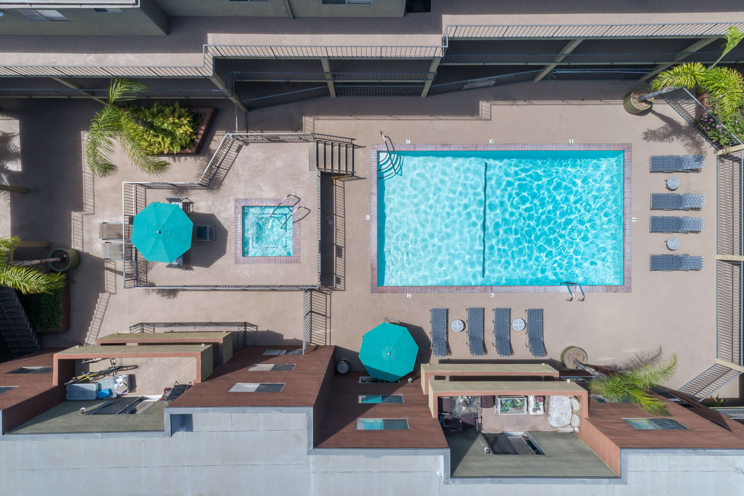 Swimming pool at Legacy at Westglen in Glendale, California