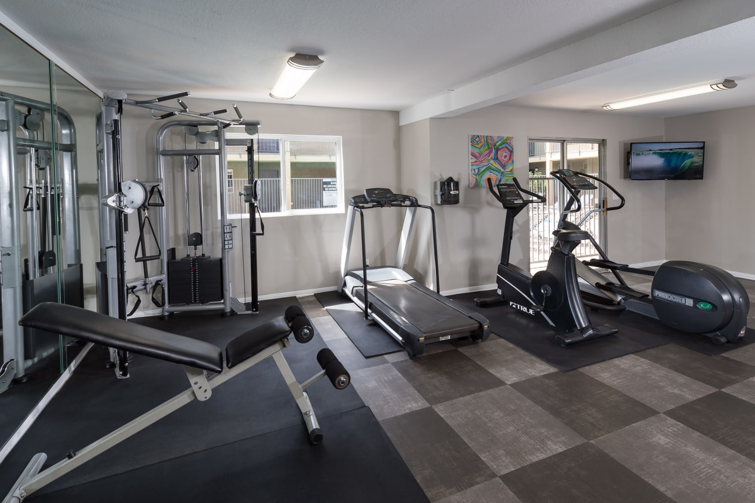 Fitness center at Legacy at Westglen in Glendale, California