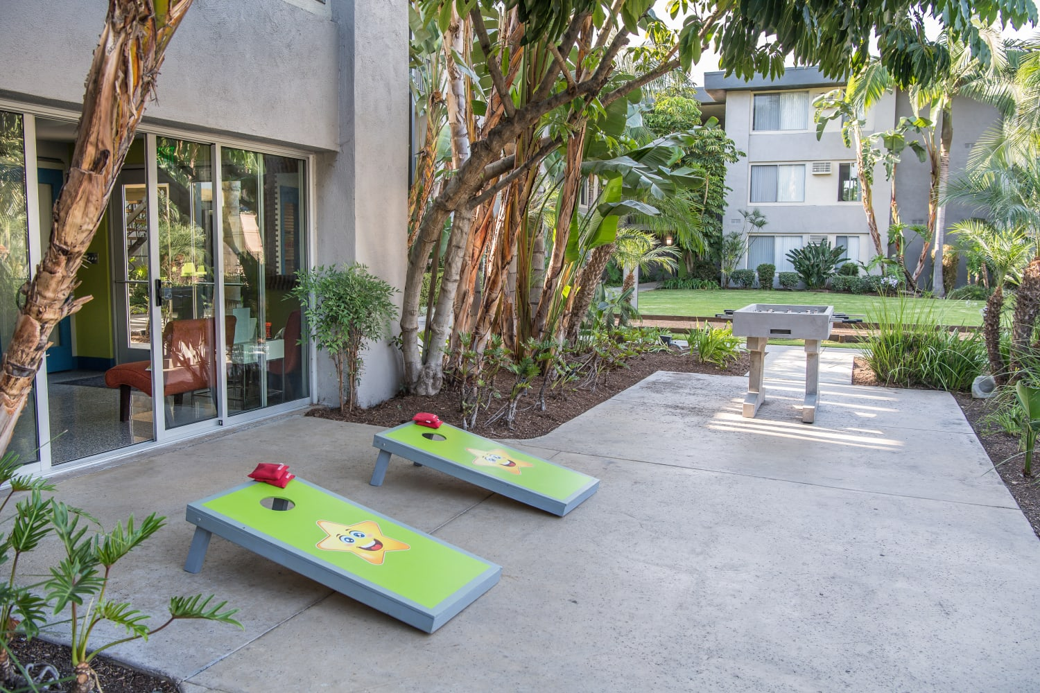 UCE Apartment Homes in Fullerton, California, offers a large variety of outdoor games