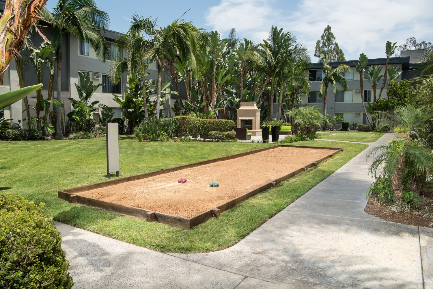 UCE Apartment Homes in Fullerton, California, offers a variety of outdoor games