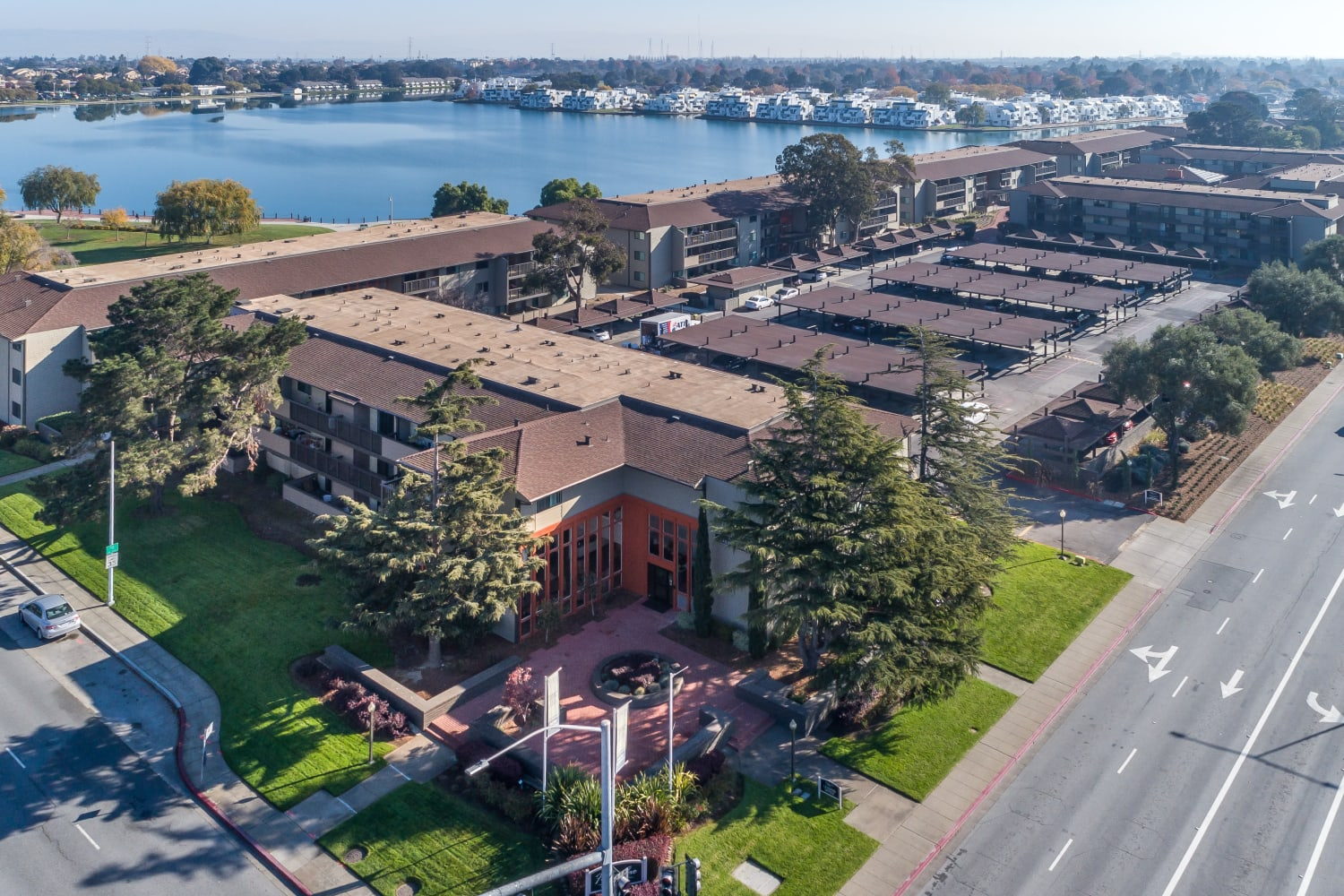 Enjoy an easy commute to and from Harbor Cove Apartments in Foster City, California