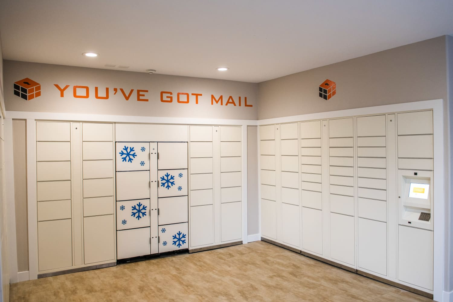 Mail receiving room at The Knolls at Inglewood Hill in Sammamish, Washington