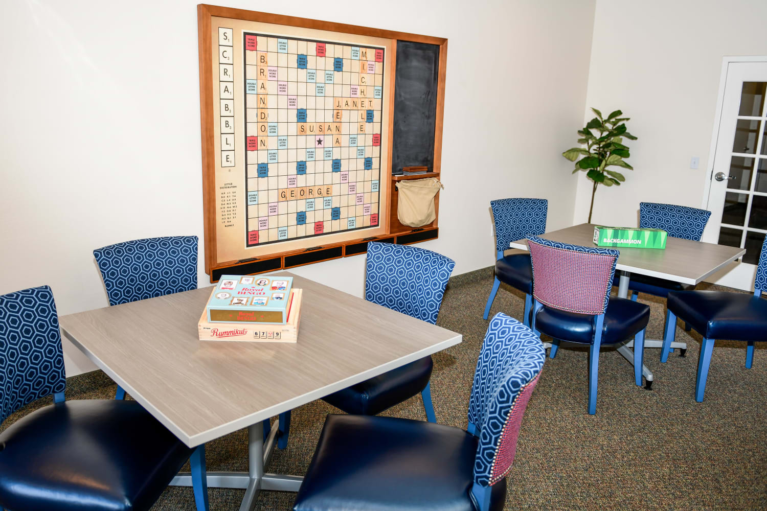 Enjoy a game room at Village on the Green in Rancho Cucamonga, California