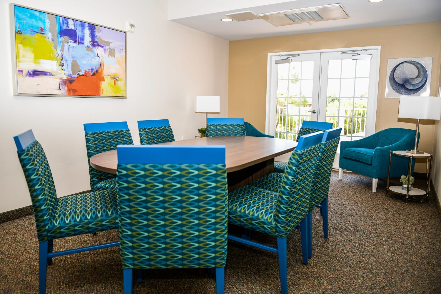 Business center at Village on the Green in Rancho Cucamonga, California