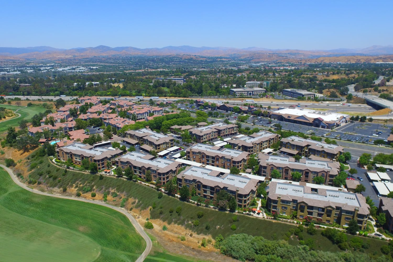 Links at Westridge in Valencia, California, are near a golf course