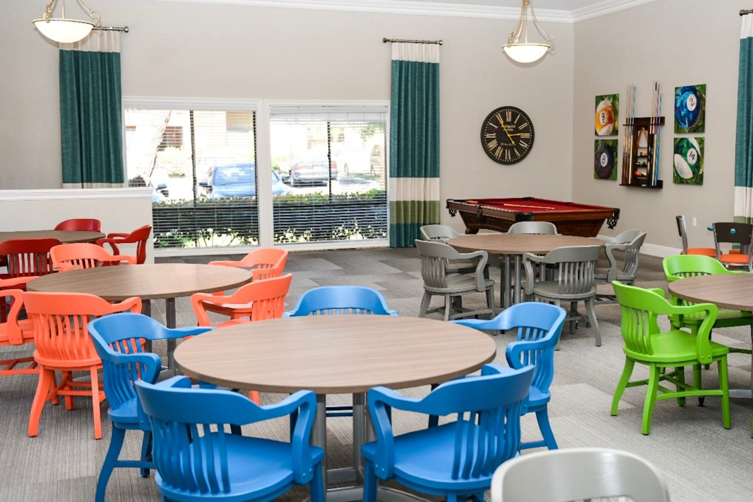 Community lounge at The Villas at Rowland Heights in Rowland Heights, California