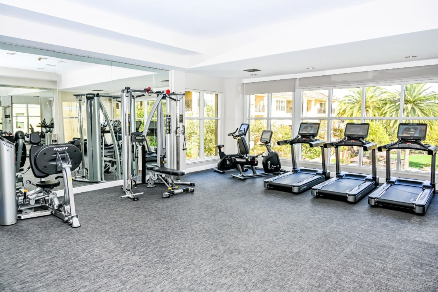 Gym at The Carlyle in Santa Clara, California