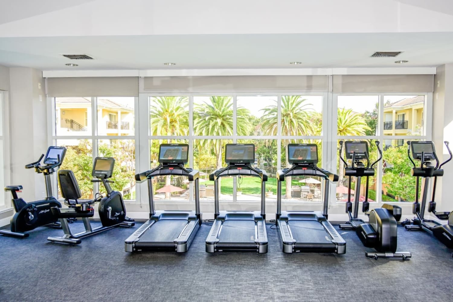 Fitness center at The Carlyle in Santa Clara, California
