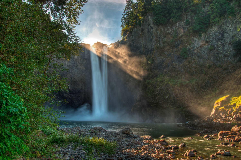Waterfall near The Knolls at Inglewood Hill in Sammamish, Washington