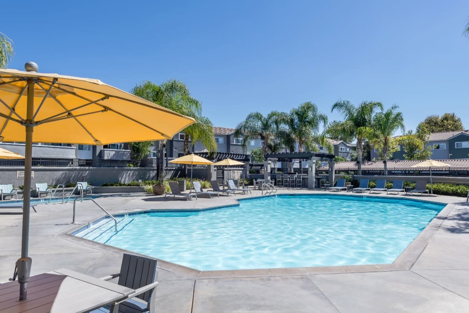 Swimming pool at Madrid Apartments in Mission Viejo, California