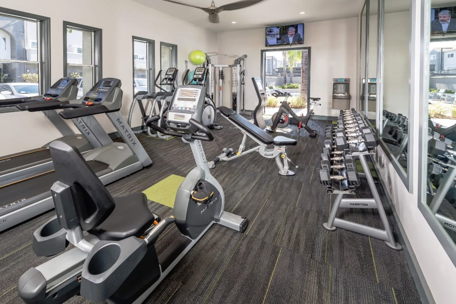 Madrid Apartments in Mission Viejo, California, offer a fully equipped fitness center
