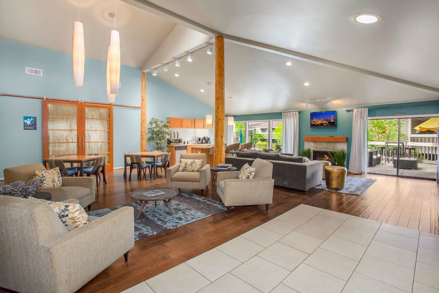 Bright and open floor plans at The VUE in Kirkland, Washington