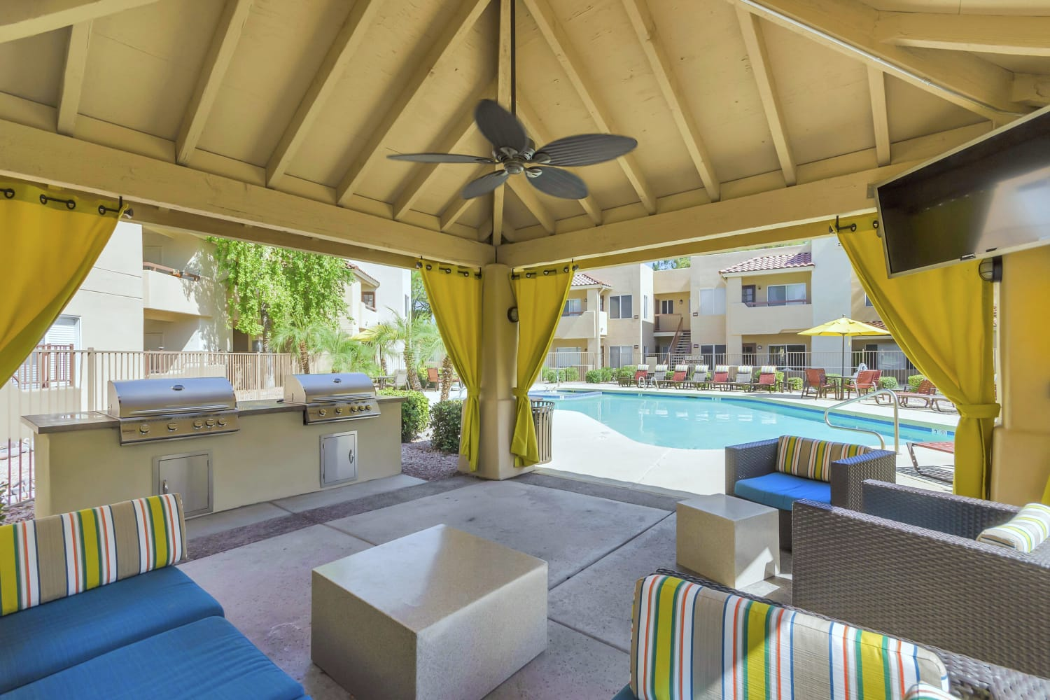 Covered cabana at Alcove at the Islands in Gilbert, Arizona