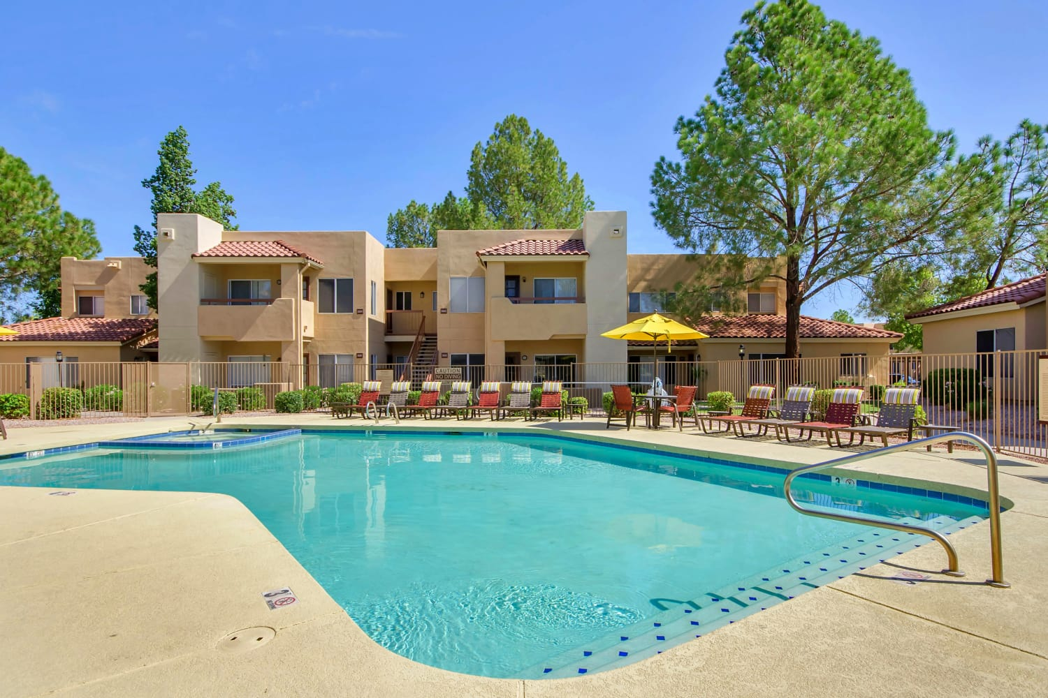 Outdoor swimming pool at Alcove at the Islands in Gilbert, Arizona