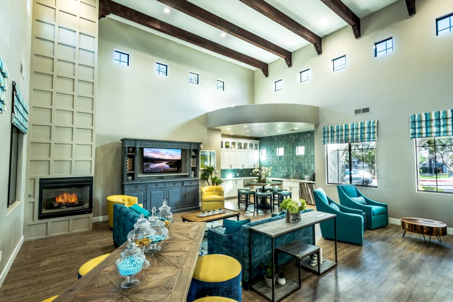 Enjoy access to the modern clubhouse at Dobson 2222 in Chandler, Arizona
