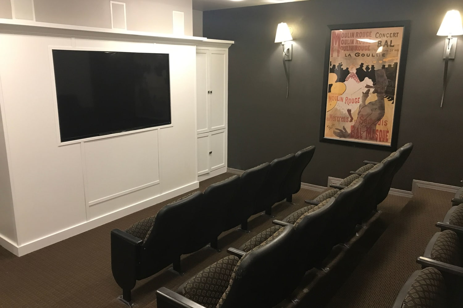 Enjoy the movie theater at The Knolls at Inglewood Hill in Sammamish, Washington