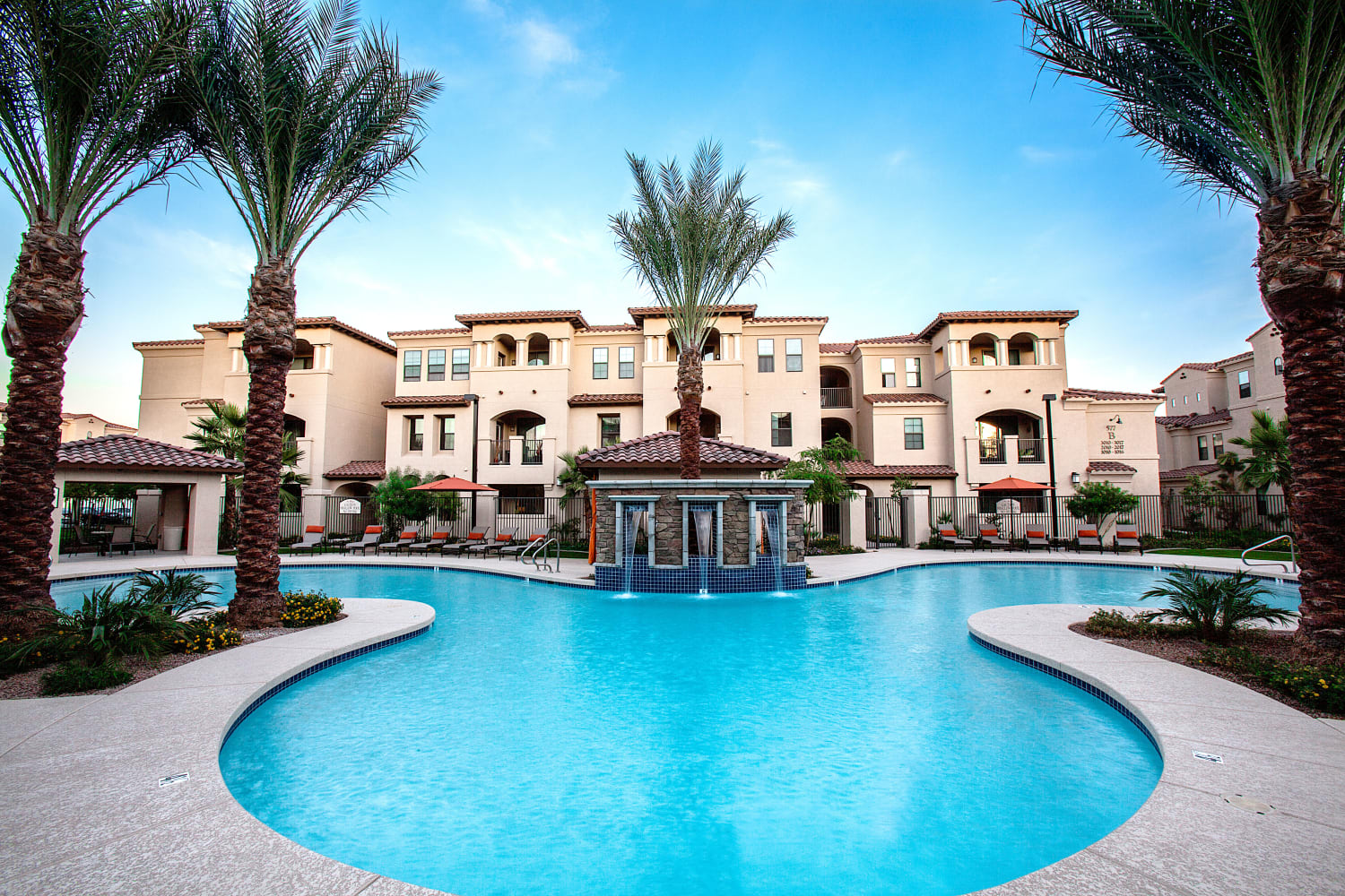 Enjoy a resort style pool at San Marquis in Tempe, Arizona