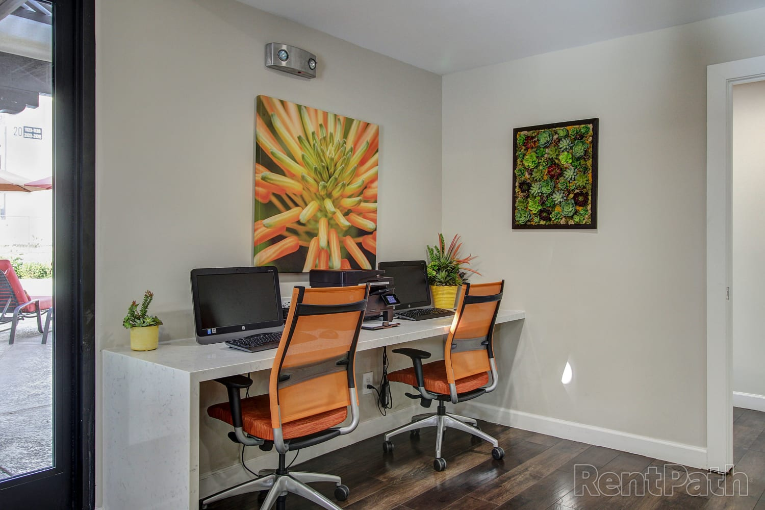 Leasing desk at Casa Santa Fe Apartments in Scottsdale, Arizona