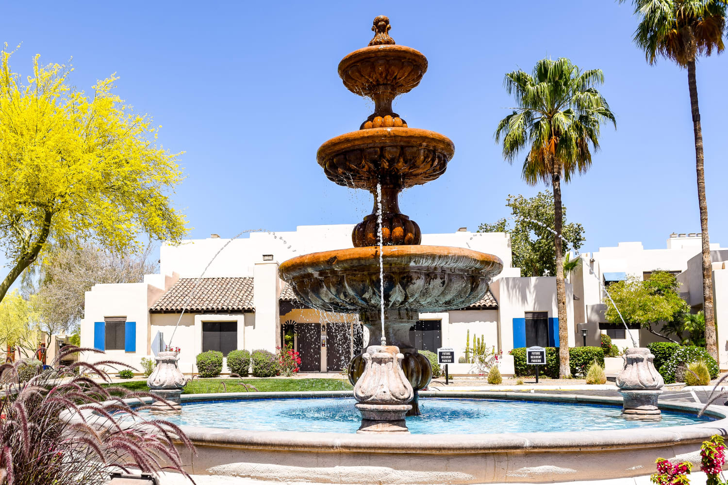 Fountain at Casa Santa Fe Apartments in Scottsdale, Arizona