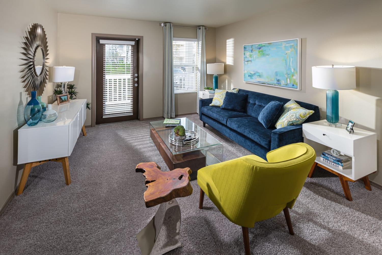 Living room at The Knolls at Inglewood Hill in Sammamish, Washington