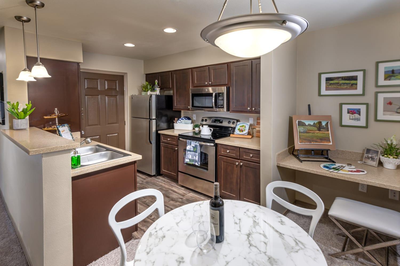 Kitchen at The Knolls at Inglewood Hill in Sammamish, Washington