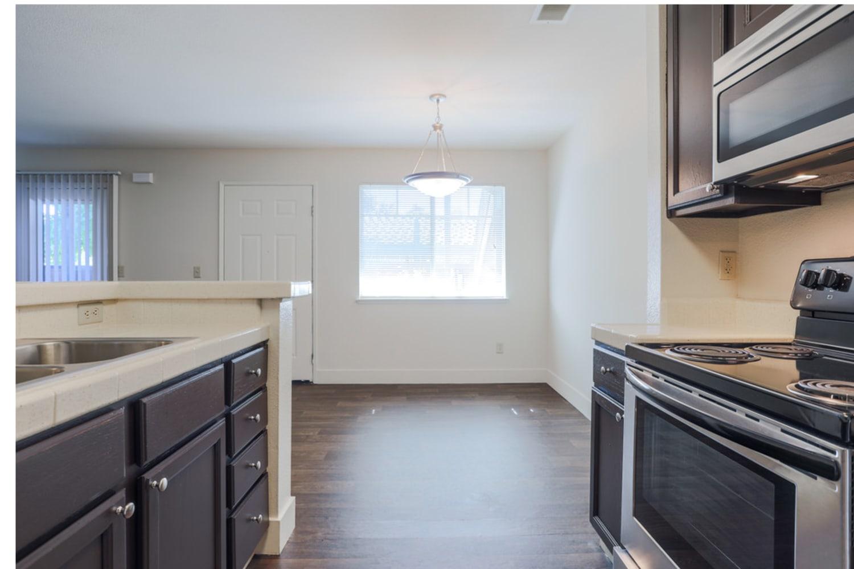 Kitchen at La Vina Apartments in Livermore, California