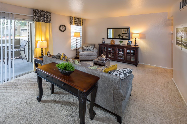 Enjoy spacious living rooms at Bridges at San Ramon in San Ramon, California