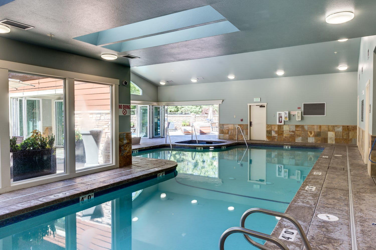 Indoor pool at The Preserve at Forbes Creek in Kirkland, Washington