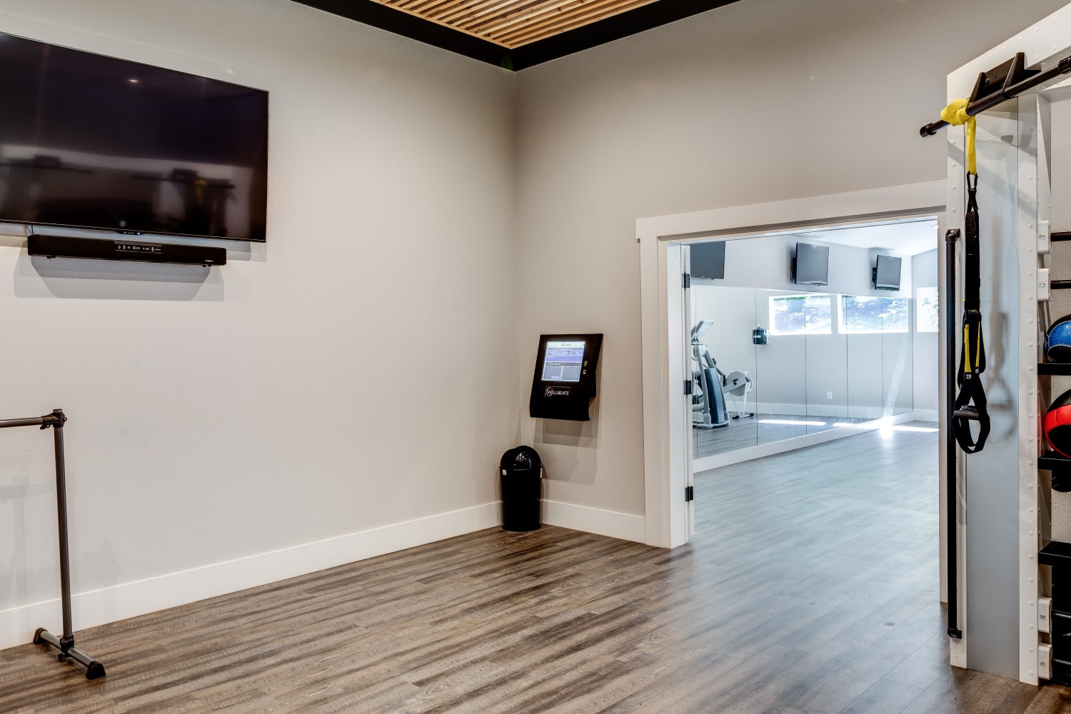 Room for exercising at The Preserve at Forbes Creek in Kirkland, Washington