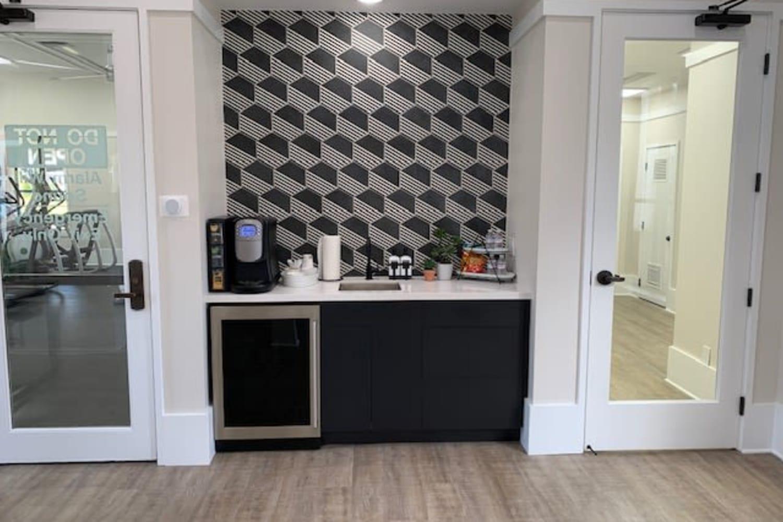 Coffee bar at Cotton Wood Apartments