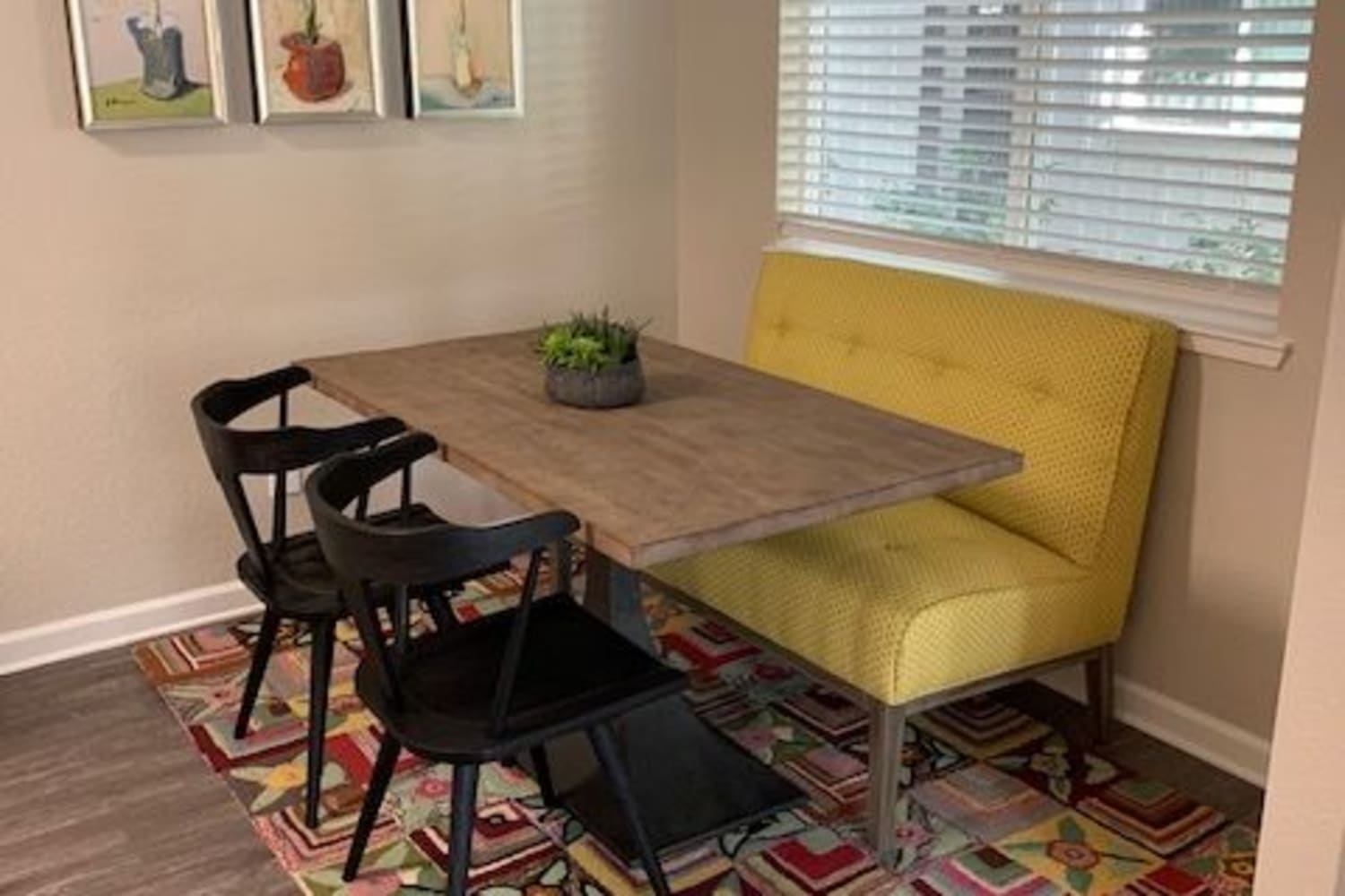 Enjoy Apartments with a Modern Dining Room at Cotton Wood Apartments