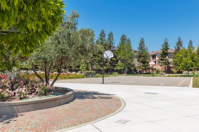 A basketball court at Park Hacienda Apartments in Pleasanton, California