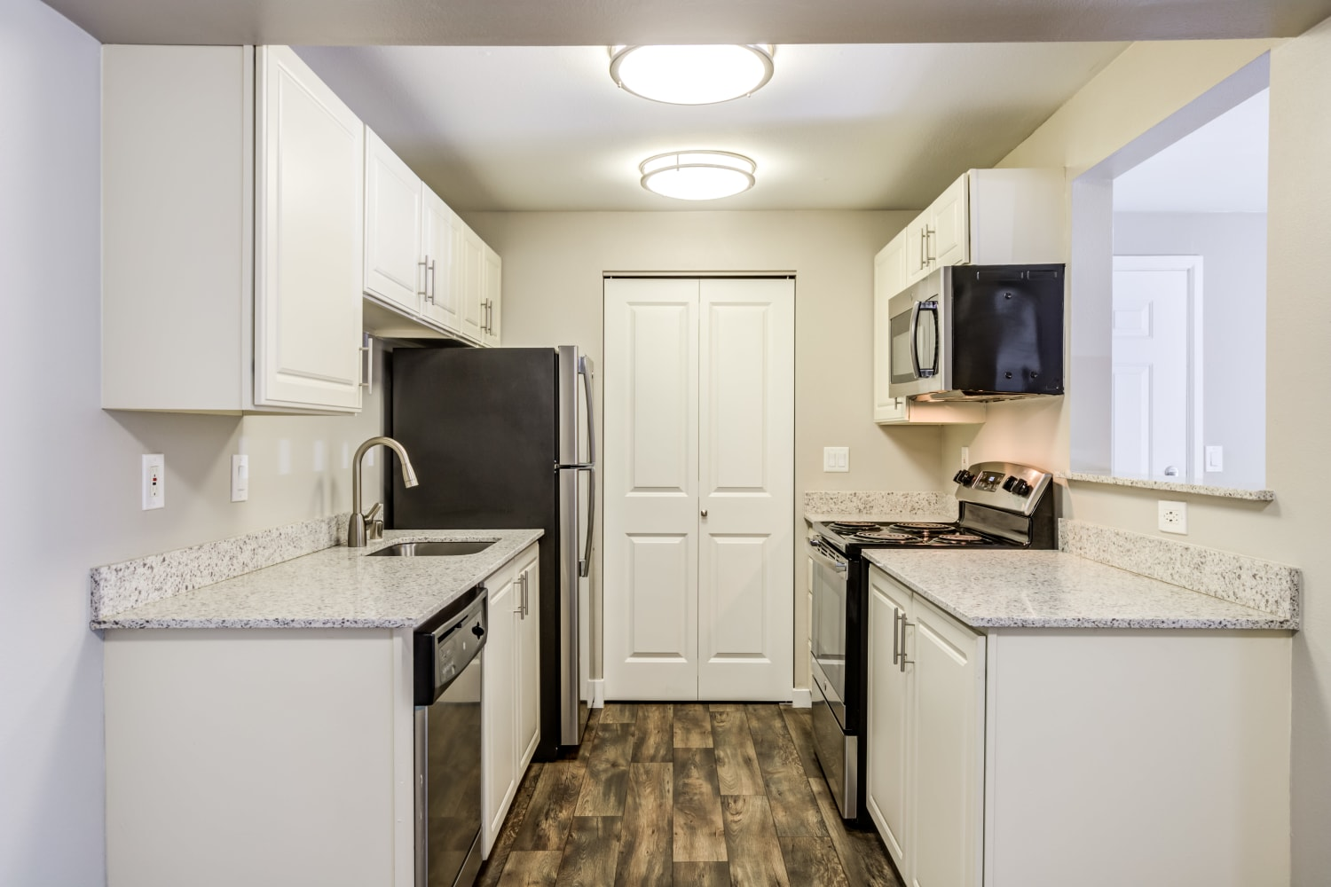 Kitchen at Campbell Run Apartments in Woodinville, Washington
