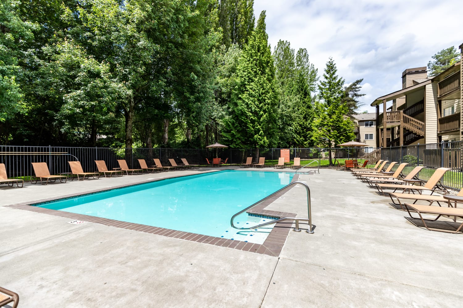 Swimming Pool at Campbell Run Apartments in Woodinville, Washington