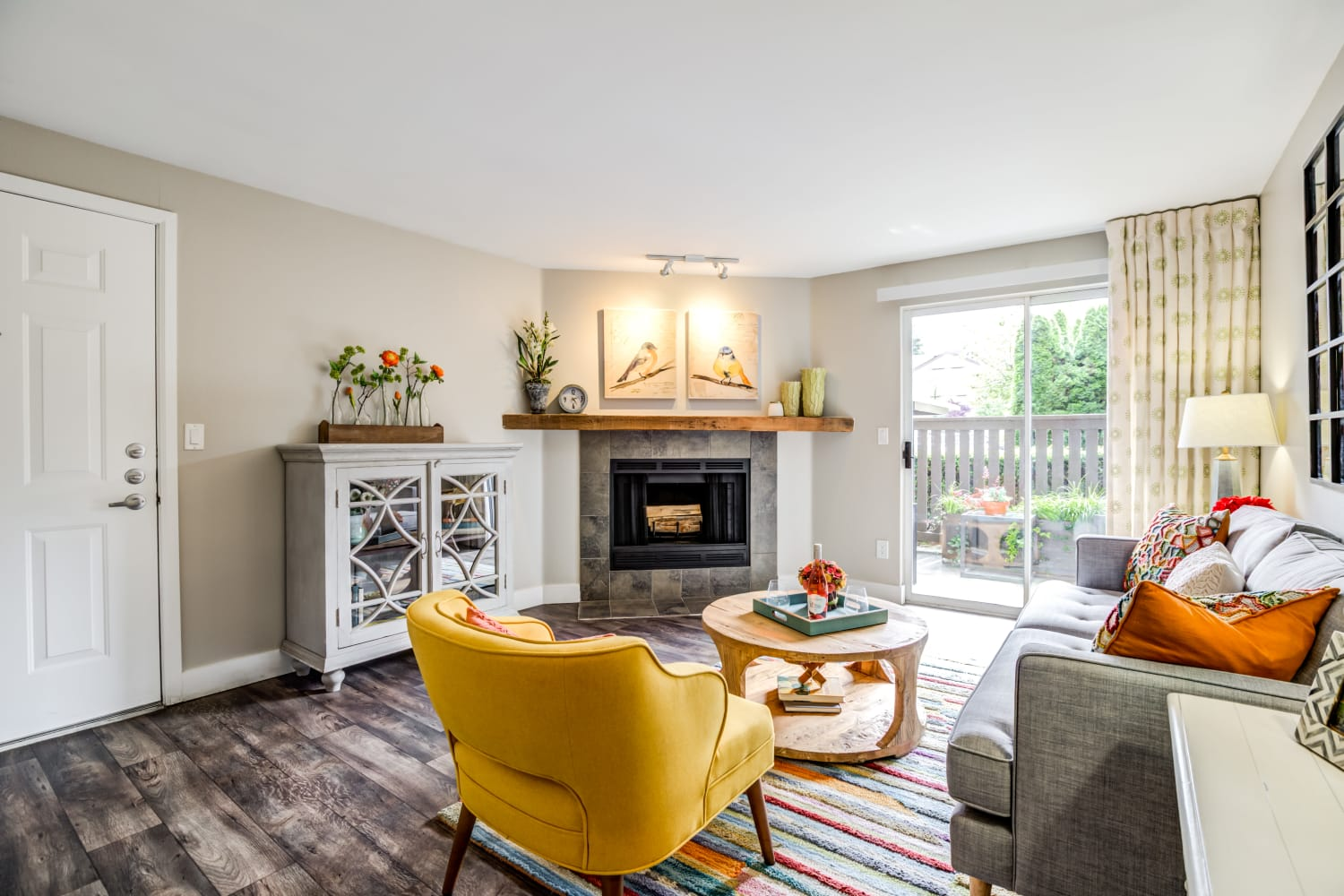 Living Room at Apartments in Woodinville, Washington