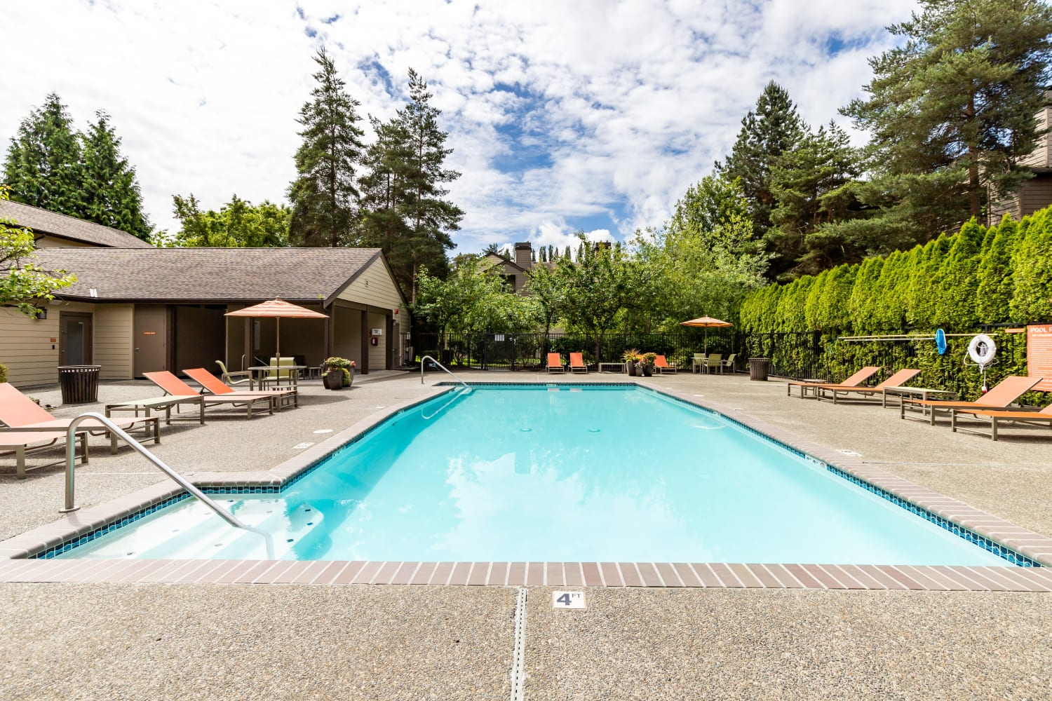 Enjoy Apartments with an outdoor community pool at Campbell Run Apartments