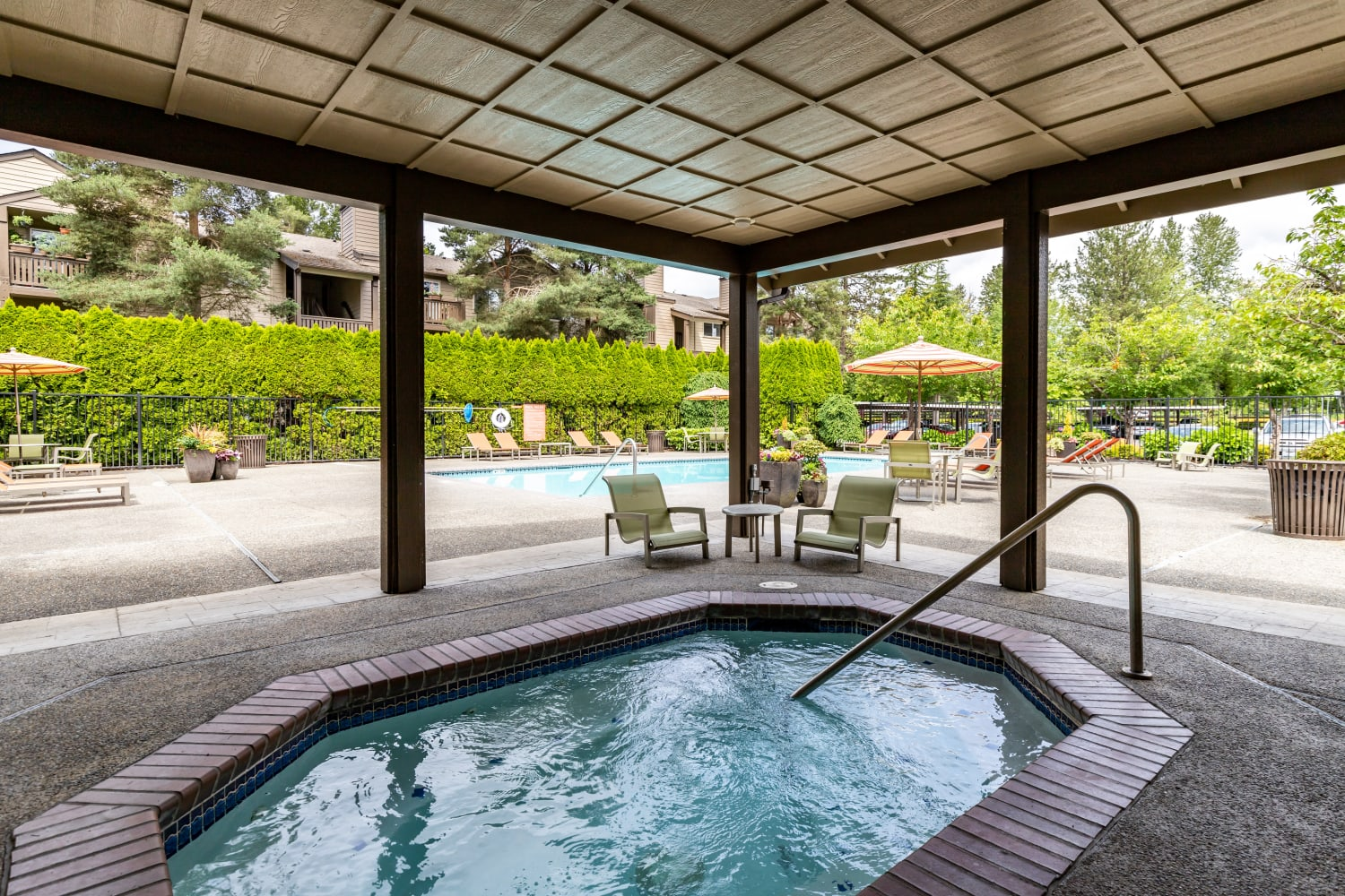 Hot Tub at Campbell Run Apartments in Woodinville, Washington