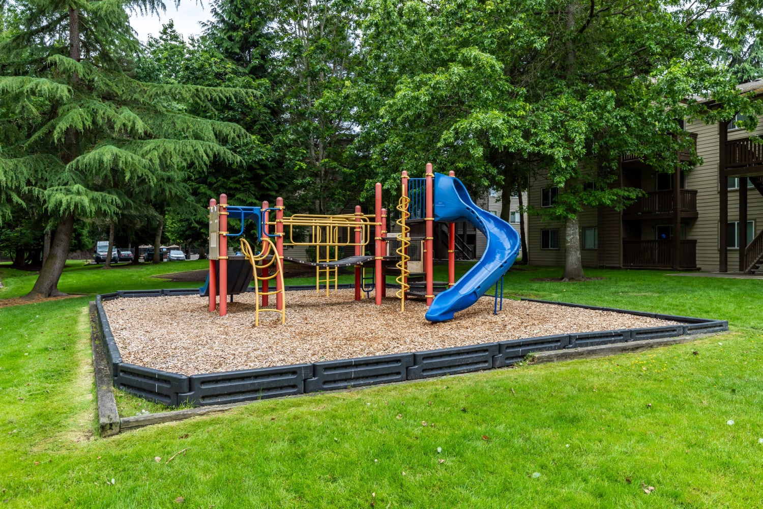 Playground equipment at Campbell Run Apartments in Woodinville, Washington